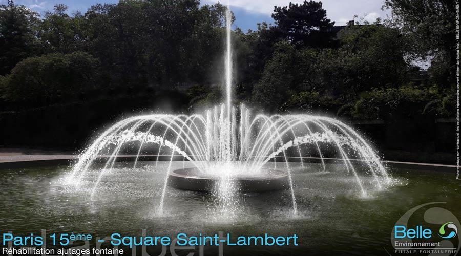 Fontaine du square st Lambert en France réalisé par Belle Environnement expert en gestion des eaux